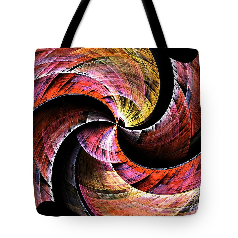 Color Tote Bag featuring the digital art Color In Motion by Steve K