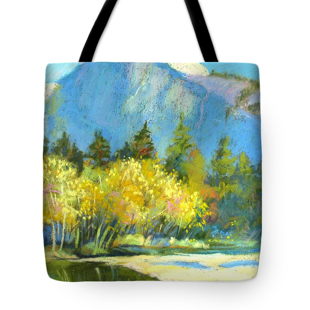 Yosemite Tote Bag featuring the pastel Color Of Fall by Rhett Regina Owings
