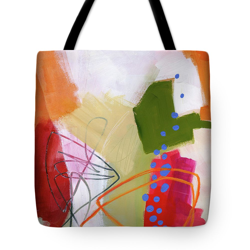 Abstract Art Tote Bag featuring the painting Color, Pattern, Line #4 by Jane Davies
