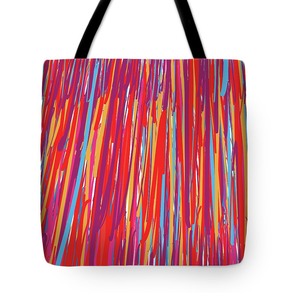 Colorful Tote Bag featuring the digital art Color Slide by Winston Rudolph Jr