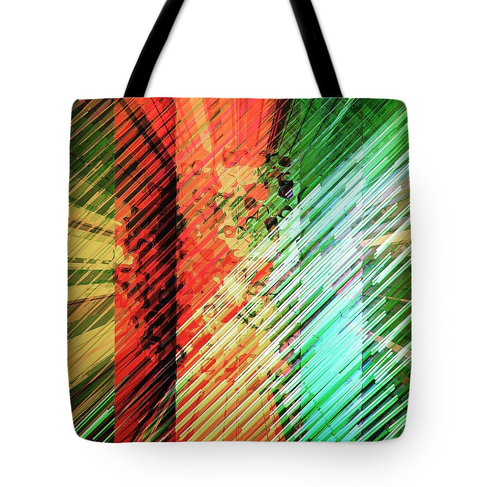 Art Tote Bag featuring the digital art Color Stripes by Marko Sabotin