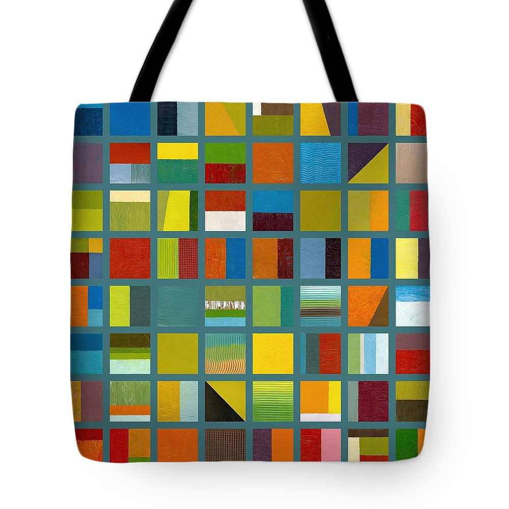 Abstract Tote Bag featuring the painting Color Study Collage 67 by Michelle Calkins