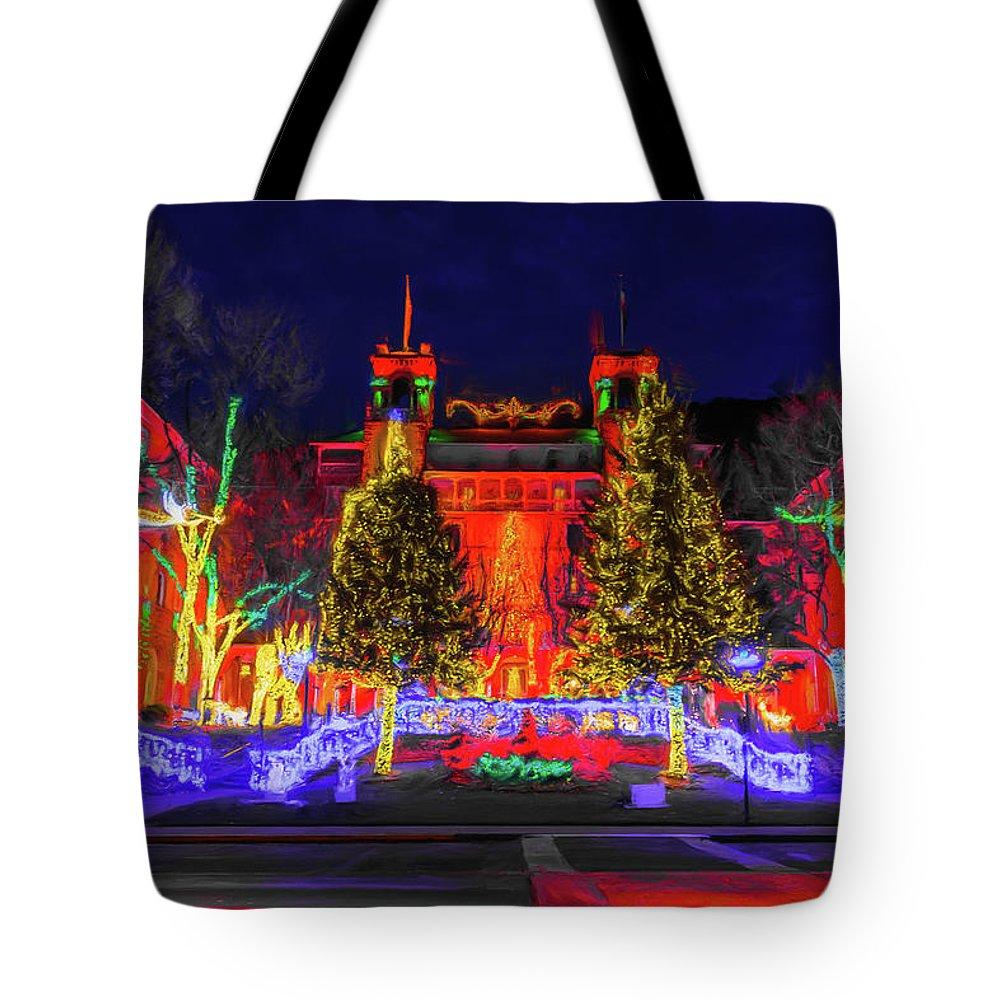 Hotel Colorado Tote Bag featuring the photograph Colorado Christmas by Dean Arneson