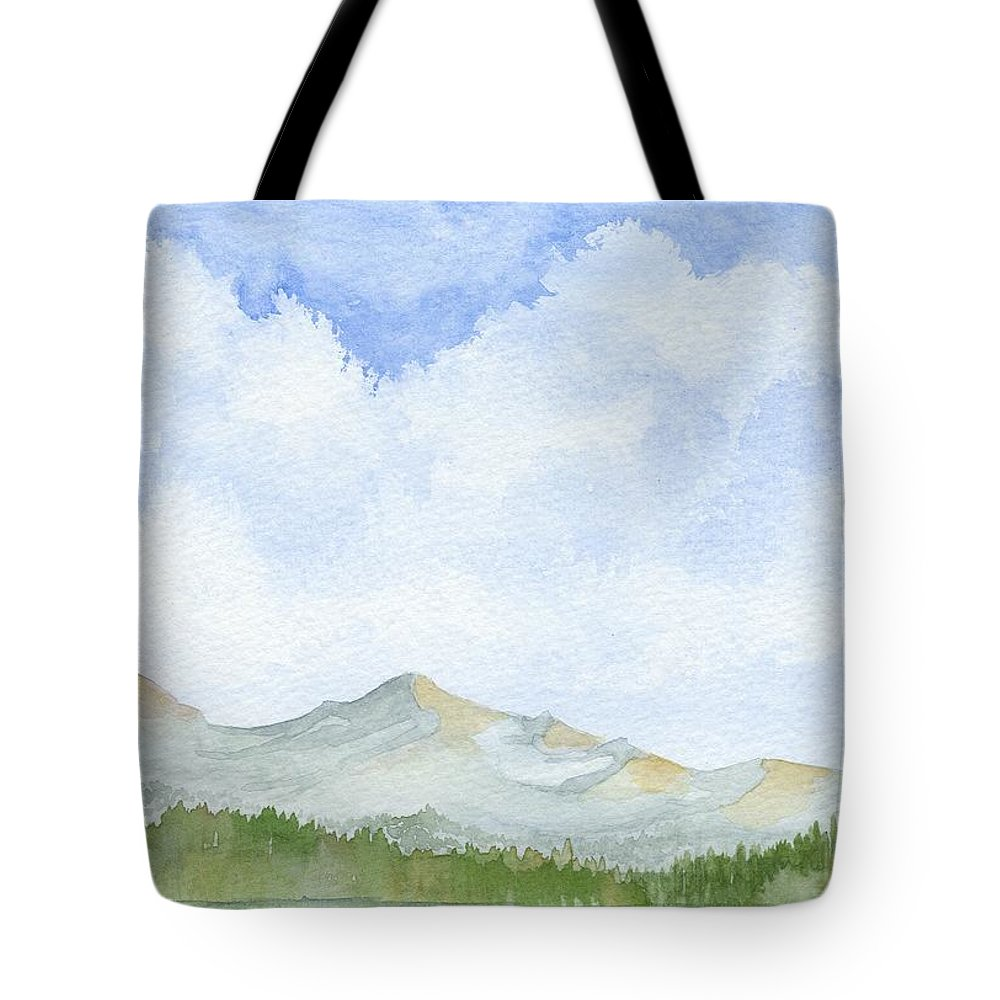 Clouds Tote Bag featuring the painting Colorado Cloudscape by Denise  Hoff