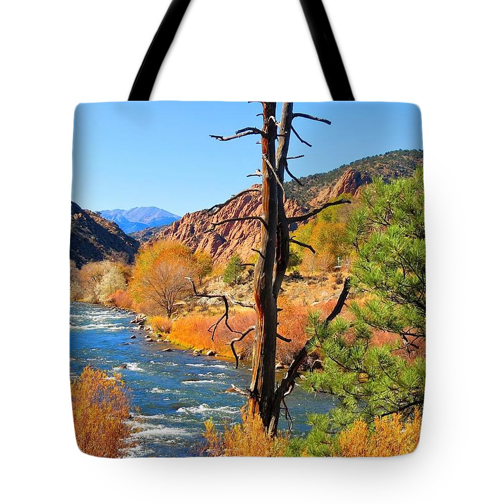 Landscape Tote Bag featuring the photograph Colorado Fall by Connor Ehlers
