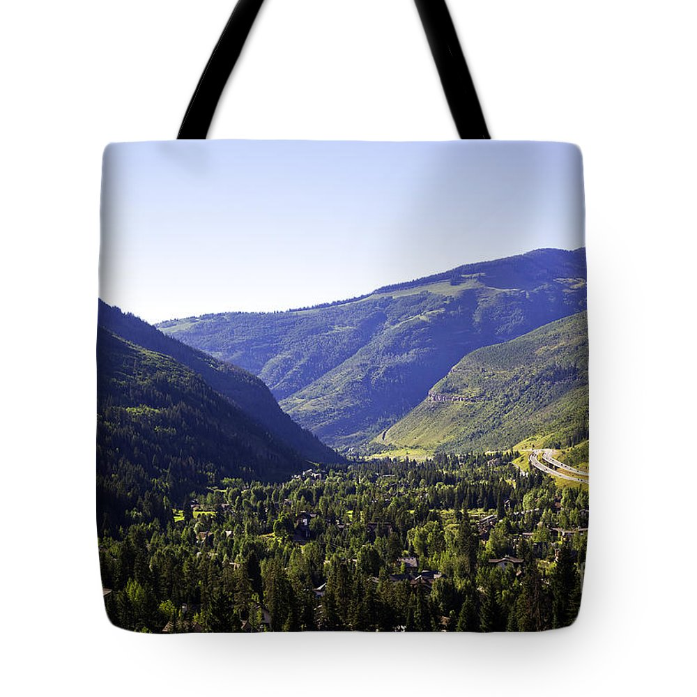 Mountains Tote Bag featuring the photograph Colorado Mountains by Madeline Ellis
