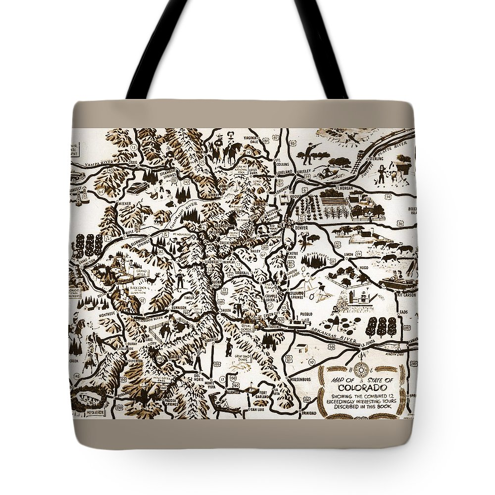 Map Tote Bag featuring the photograph Colorado by Pd