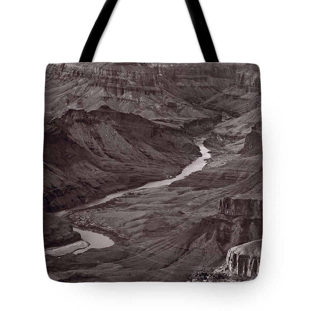 Canyon Tote Bag featuring the photograph Colorado River At Desert View Grand Canyon by Steve Gadomski