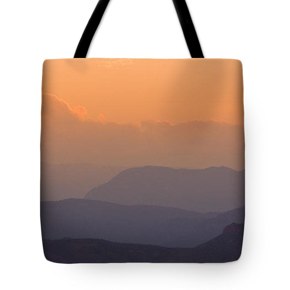 Sunset Tote Bag featuring the photograph Colorado Rocky Mountain Sunset Layers by James BO Insogna
