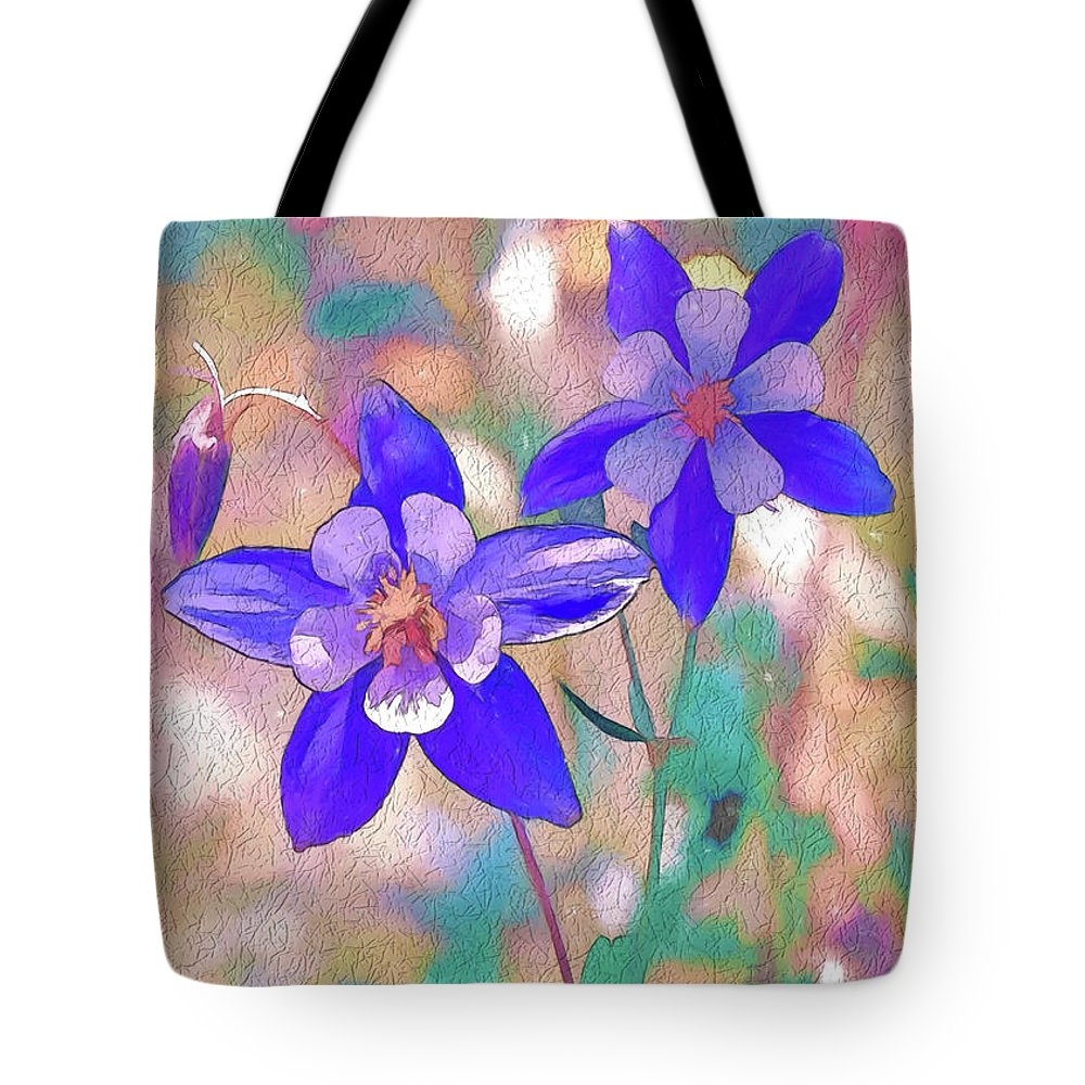 Colorado state flower 2 tote bag for sale by lena owens olena art columbines tote bag featuring the digital art colorado state flower 2 by lena owens olena art izmirmasajfo