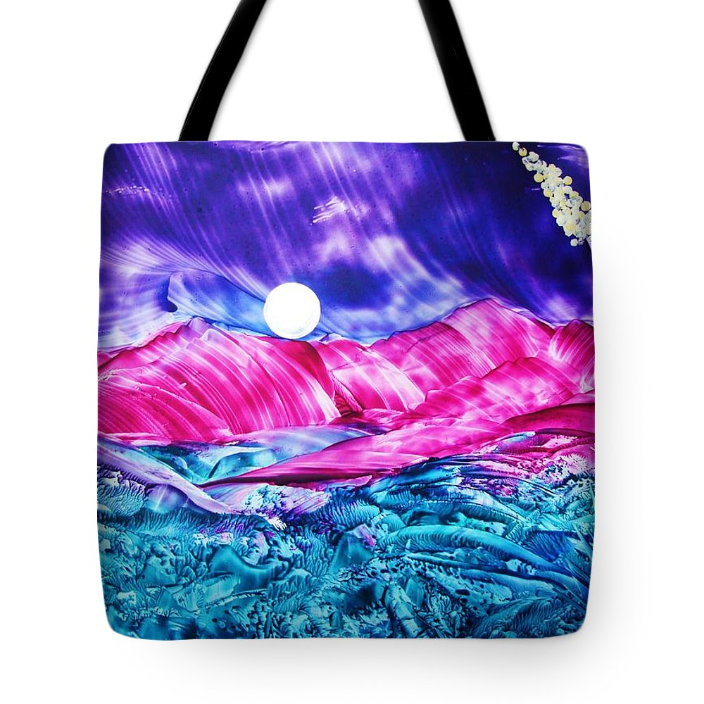 Bold Tote Bag featuring the print Colorful Desert by Melinda Etzold