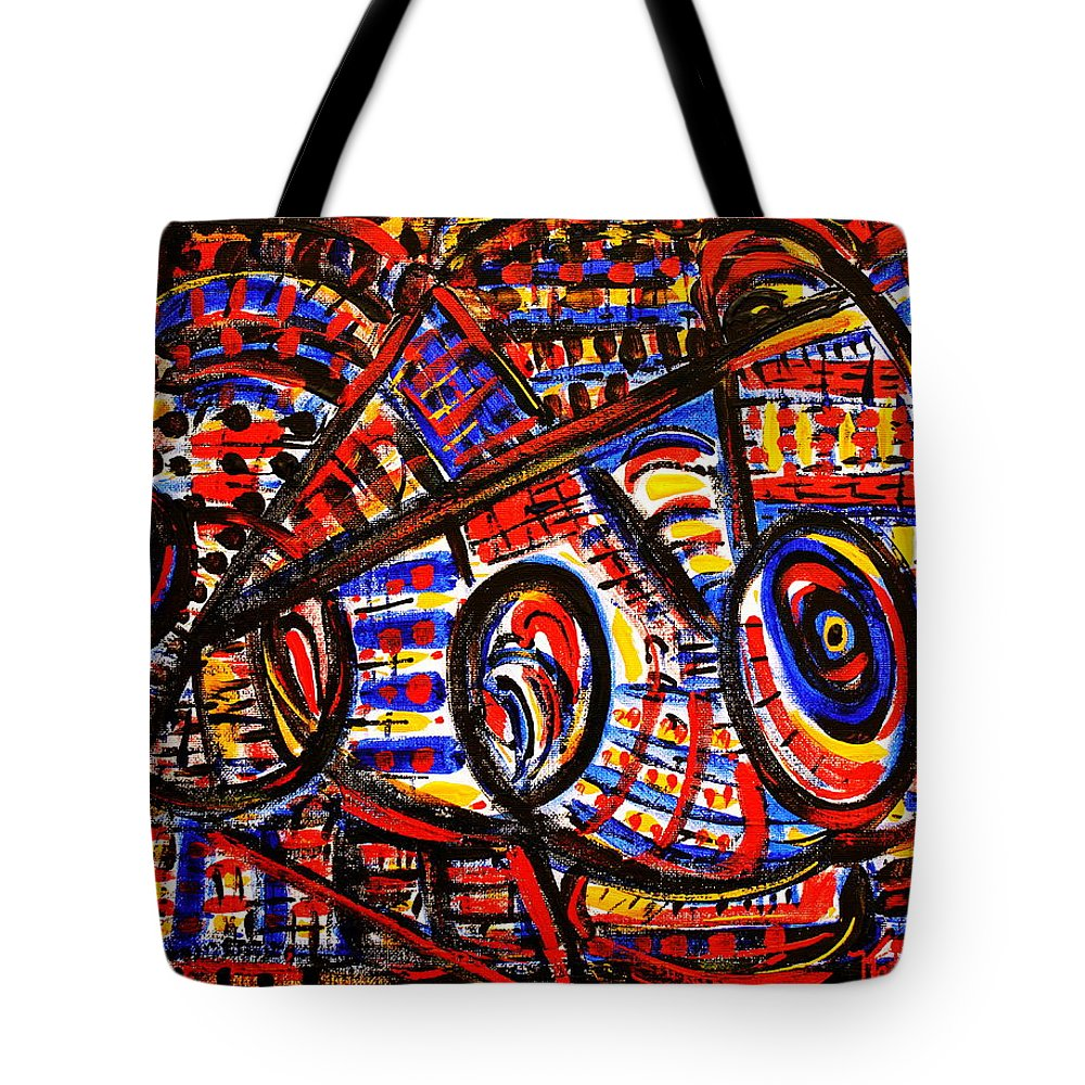Abstract Tote Bag featuring the painting Colorful Expression 18 by Natalie Holland