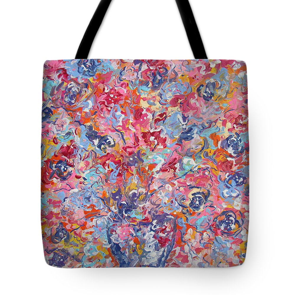 Flowers Tote Bag featuring the painting Colorful Floral Bouquet. by Leonard Holland