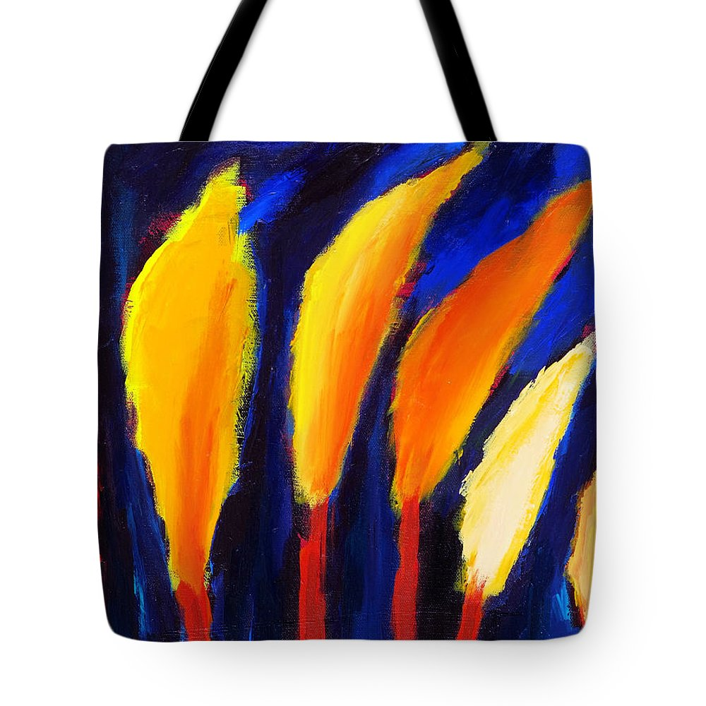 Cypress Tote Bag featuring the painting Colorful Night by Noga Ami-rav