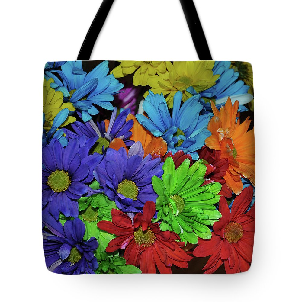 Daisy Tote Bag featuring the photograph Colorful Petals by JAMART Photography