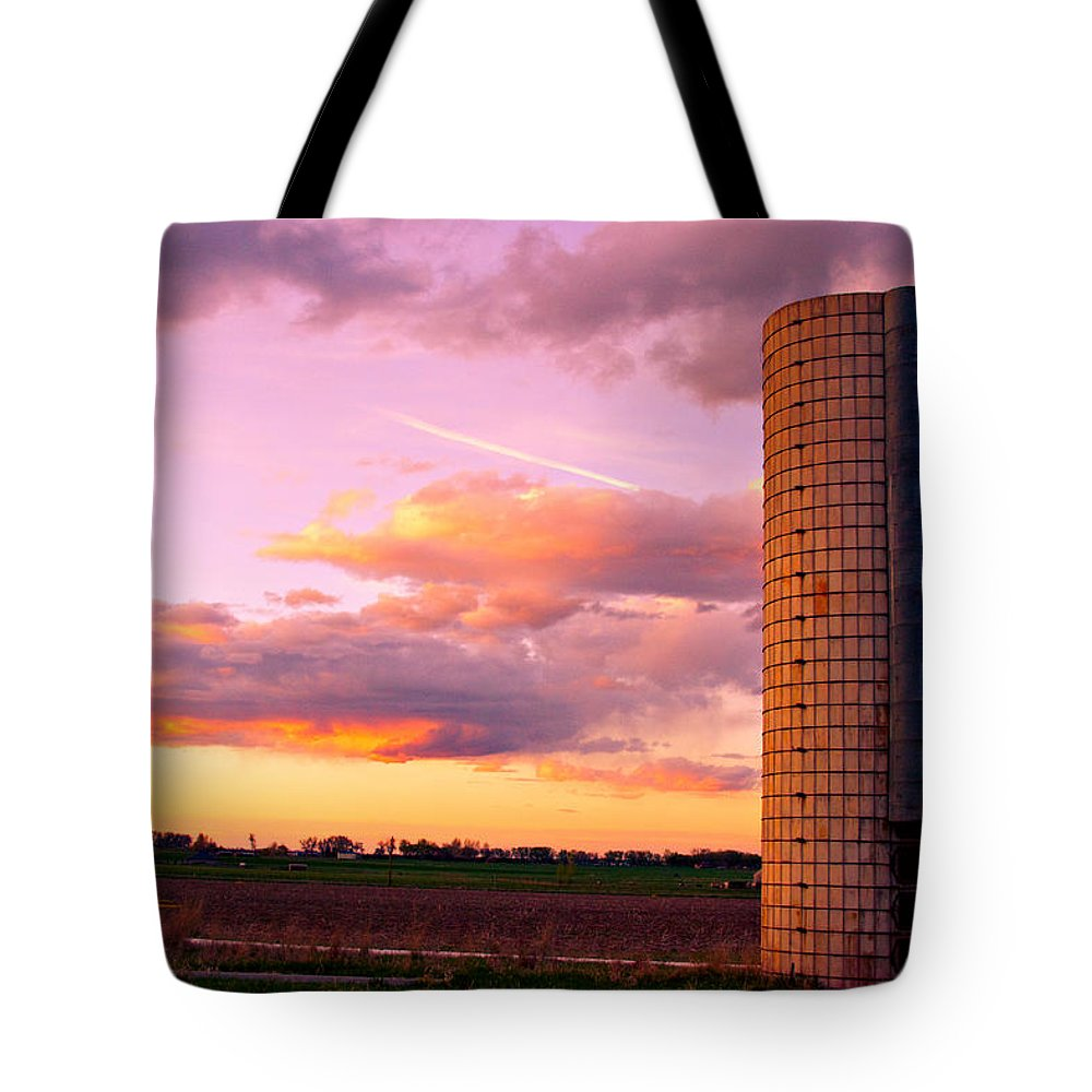 Sunset Tote Bag featuring the photograph Colorful Sunset In The Country by James BO Insogna