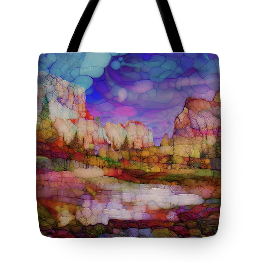 Impressionism Tote Bag featuring the painting Colorful Vista by Jack Zulli