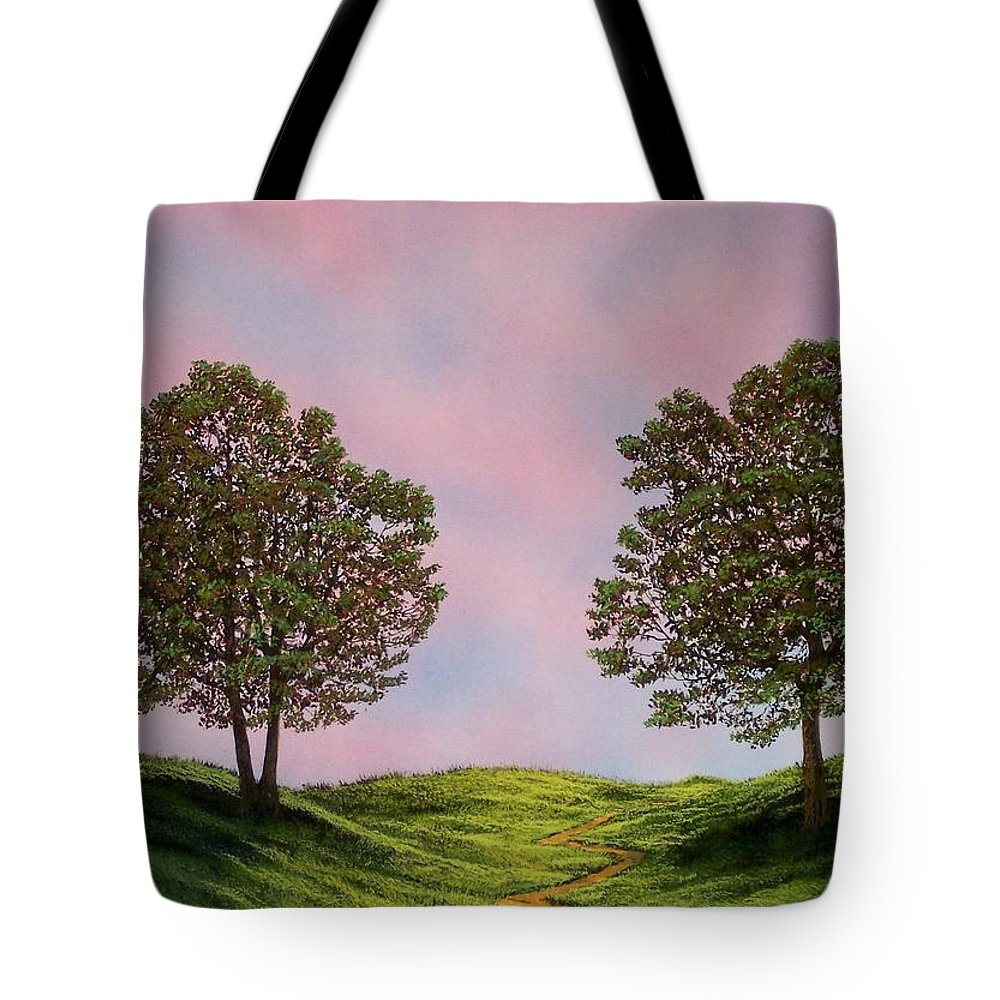 Landscape Tote Bag featuring the painting Colors Of Dawn by Frank Wilson