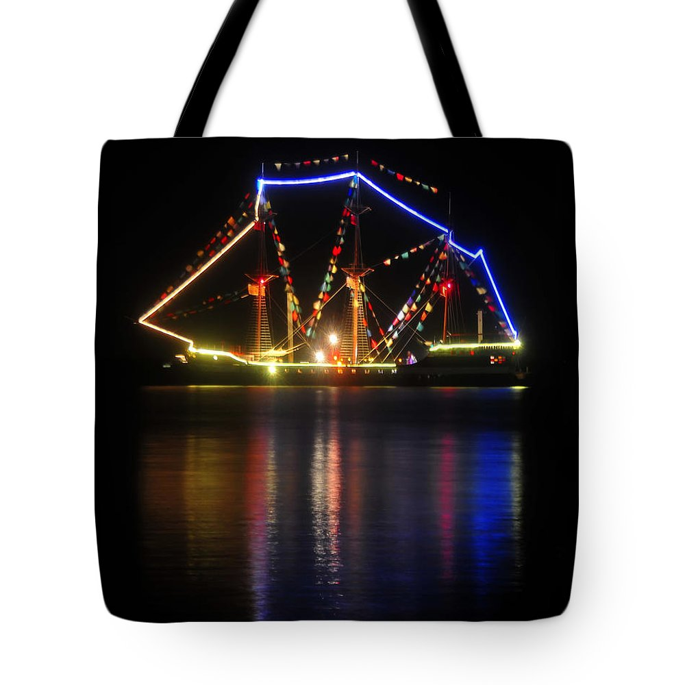 Gasparilla Pirate Fest Tote Bag featuring the photograph Colors Of Gasparilla by David Lee Thompson