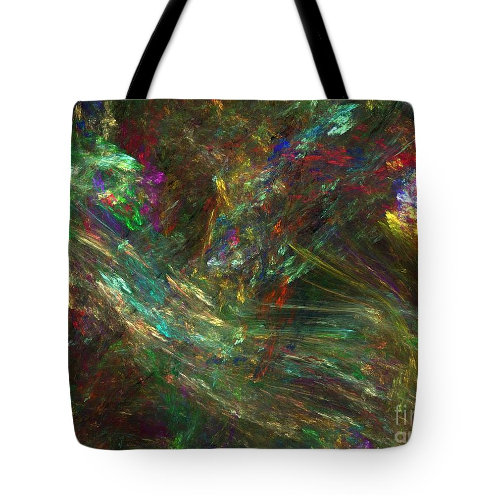 Fractals Tote Bag featuring the digital art Colors Of Light by Richard Rizzo