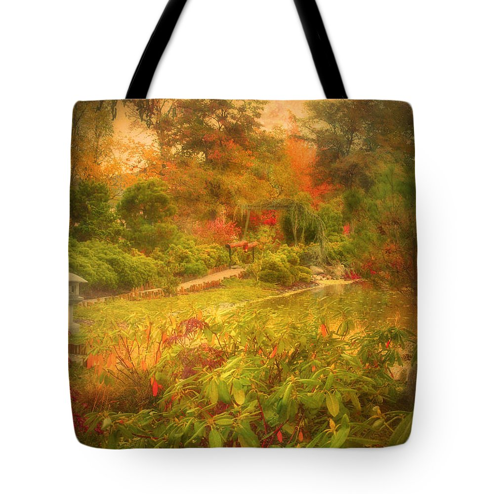 Autumn Tote Bag featuring the photograph Colour Explosion In The Japanese Gardens by Tara Turner