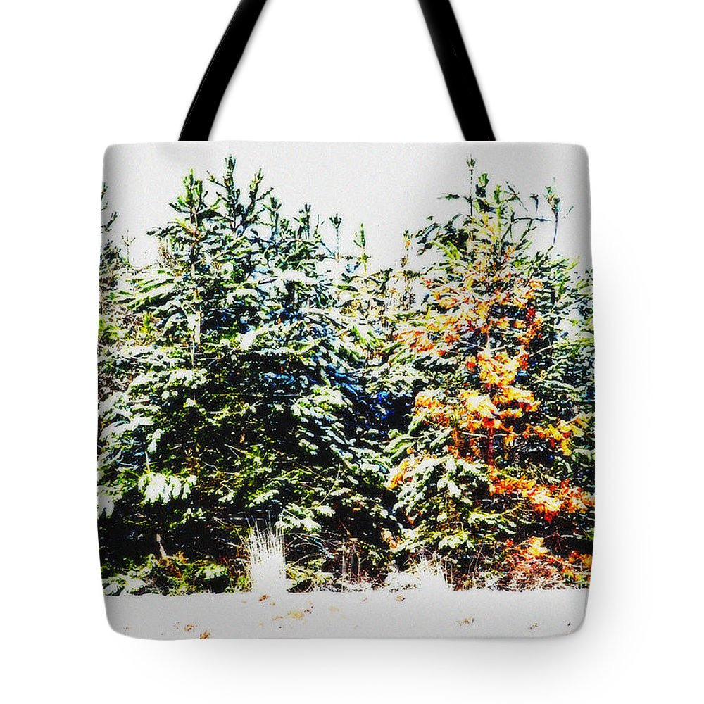 Tree Tote Bag featuring the photograph Coloured Trees by Cliff Norton