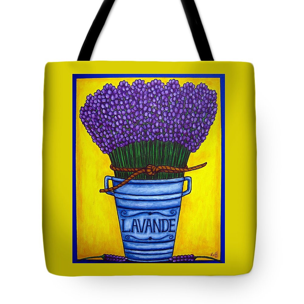 Antique Tote Bag featuring the painting Colours Of Provence by Lisa Lorenz