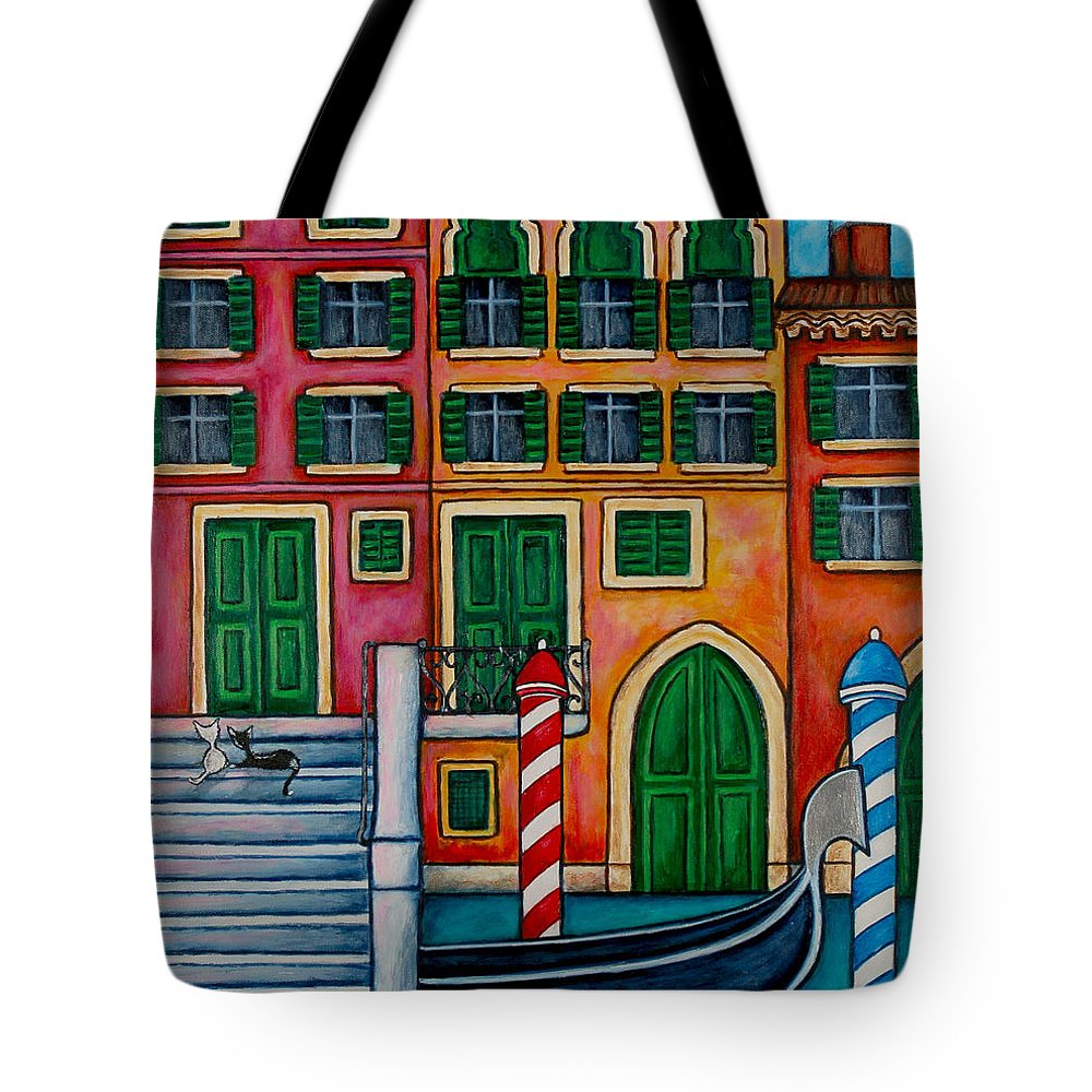 Venice Tote Bag featuring the painting Colours Of Venice by Lisa Lorenz