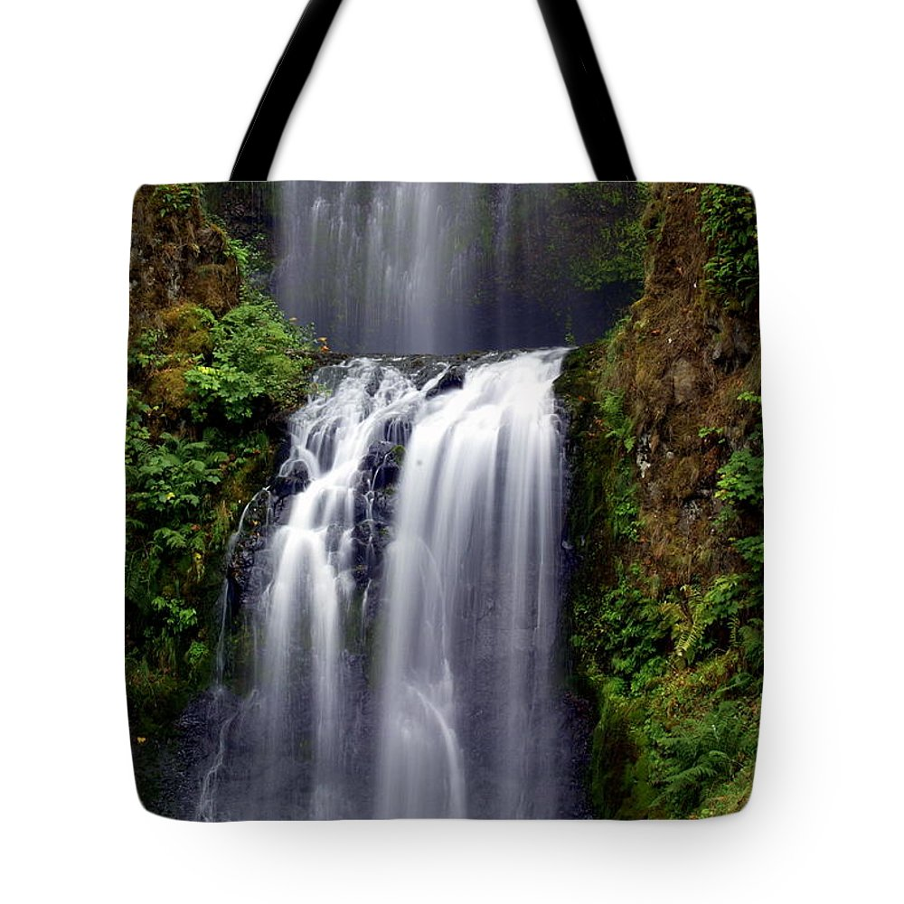 Waterfall Tote Bag featuring the photograph Columba River Gorge Falls 3 by Marty Koch