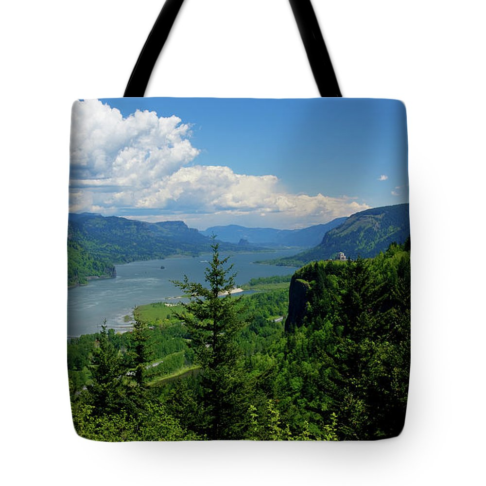 Columbia River Tote Bag featuring the photograph Columbia Gorge by Idaho Scenic Images Linda Lantzy