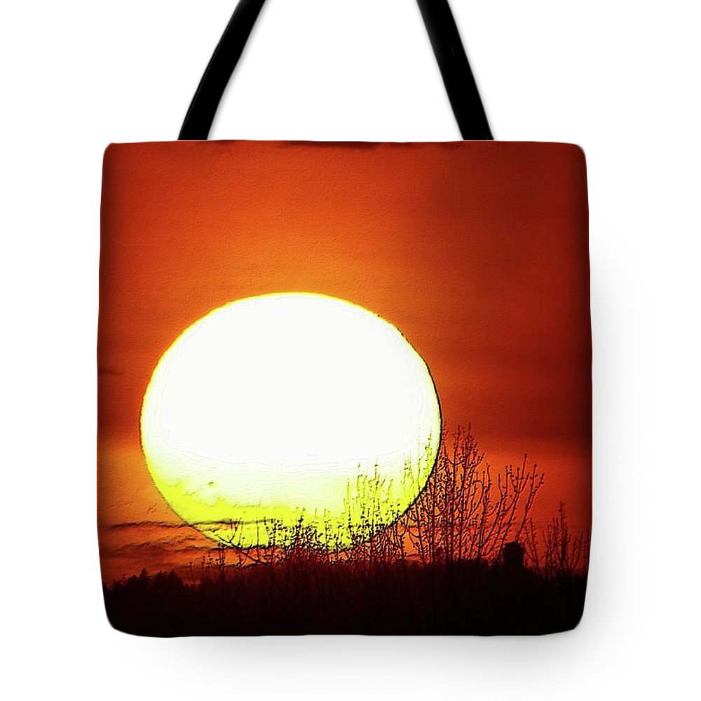 Sunsets Tote Bag featuring the photograph Columbia Gorge Sunset by Jeff Swan