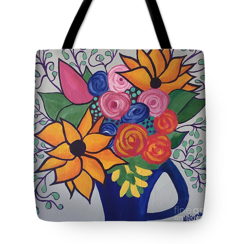 Tote Bag featuring the painting Columbia Valley Grapevine by Marti Magna