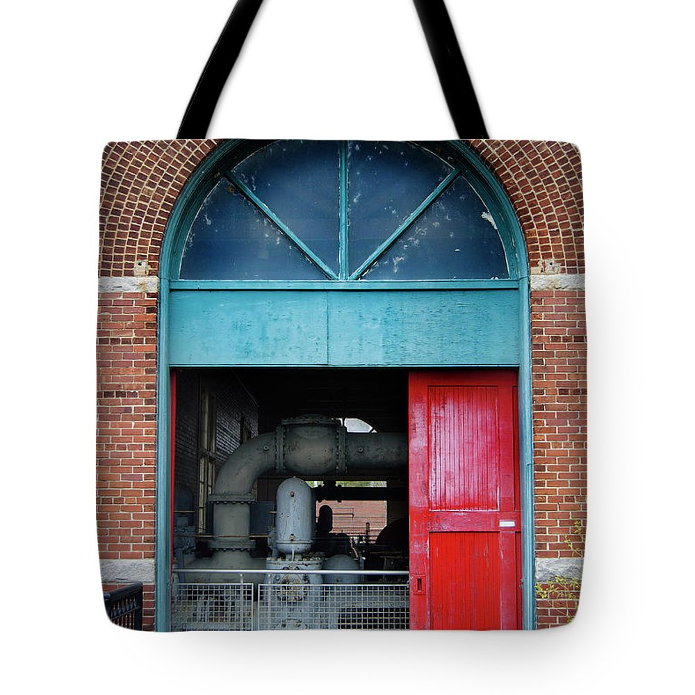 Culture Tote Bag featuring the photograph Columbia Water Works by Skip Willits