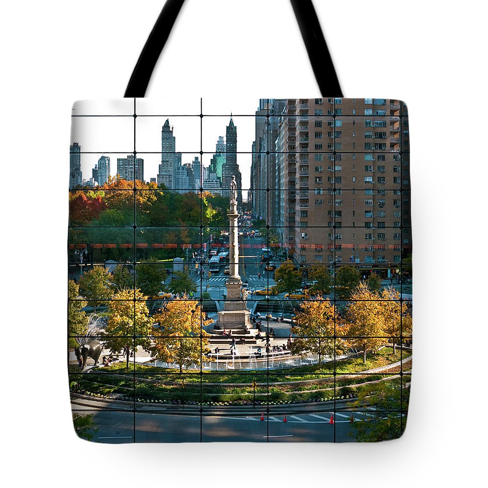 Nyc Tote Bag featuring the photograph Columbus Circle by S Paul Sahm