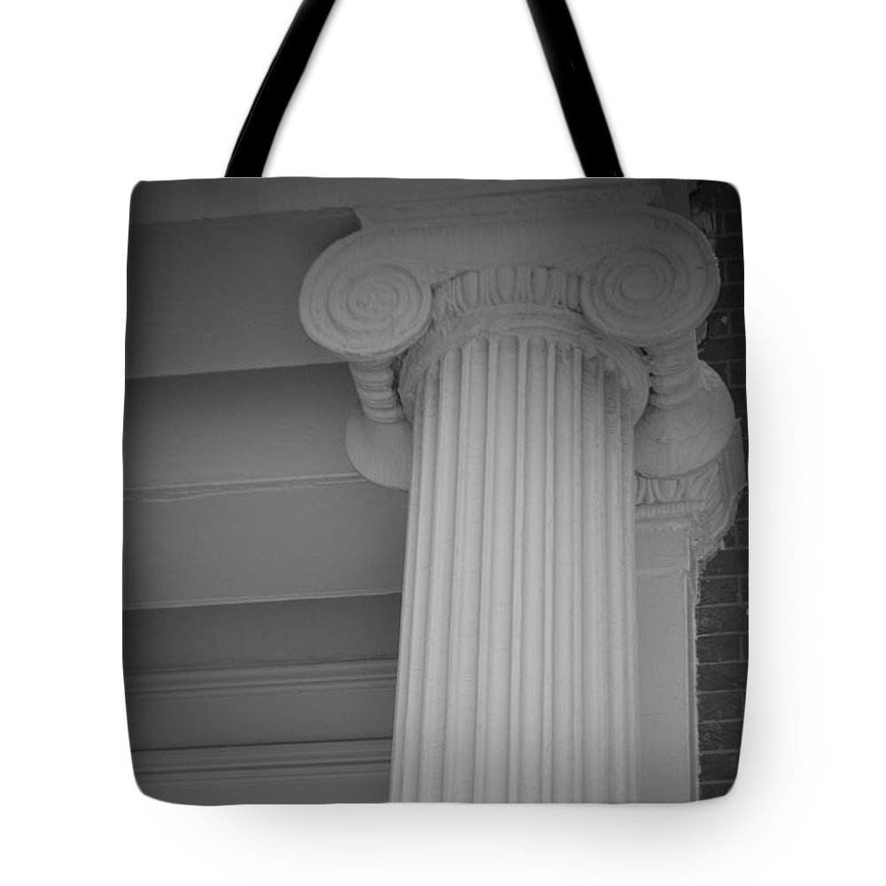 Baltimore Tote Bag featuring the photograph Column Of Baltimore by Jost Houk