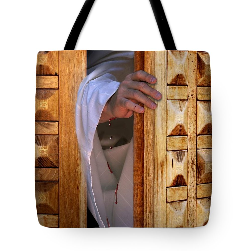 Christ Tote Bag featuring the digital art Come by Bill Stephens