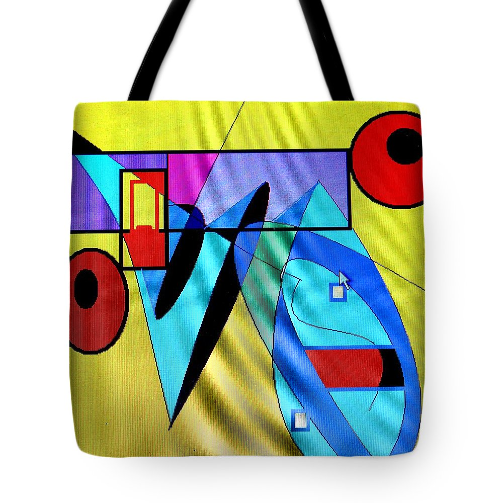 Horn Tote Bag featuring the digital art Come Blow Your Horn by Ian MacDonald
