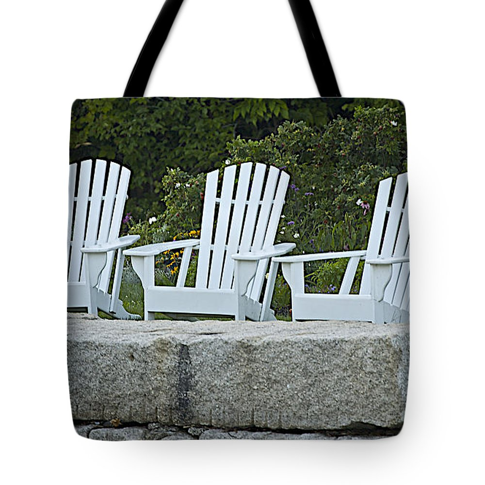 Chair Tote Bag featuring the photograph Come Sit A Spell by Faith Harron Boudreau