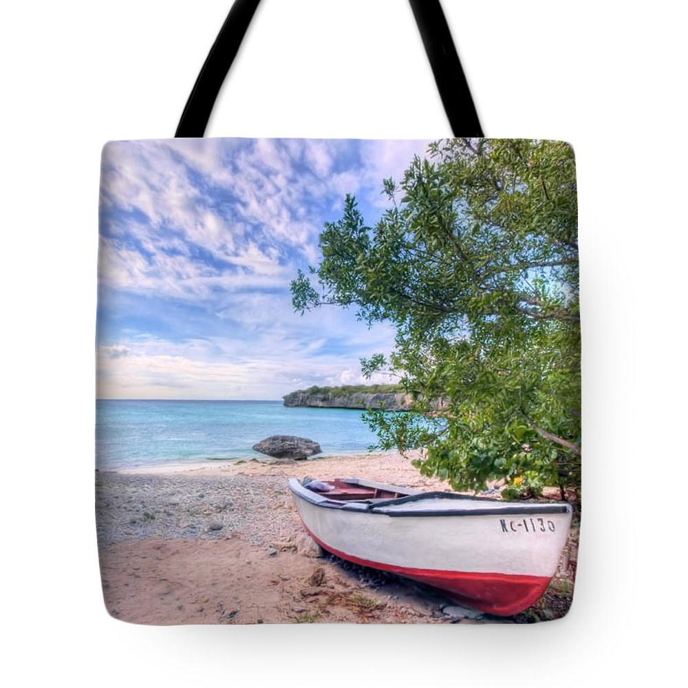 Curacao Tote Bag featuring the photograph Come To Curacao by Nadia Sanowar