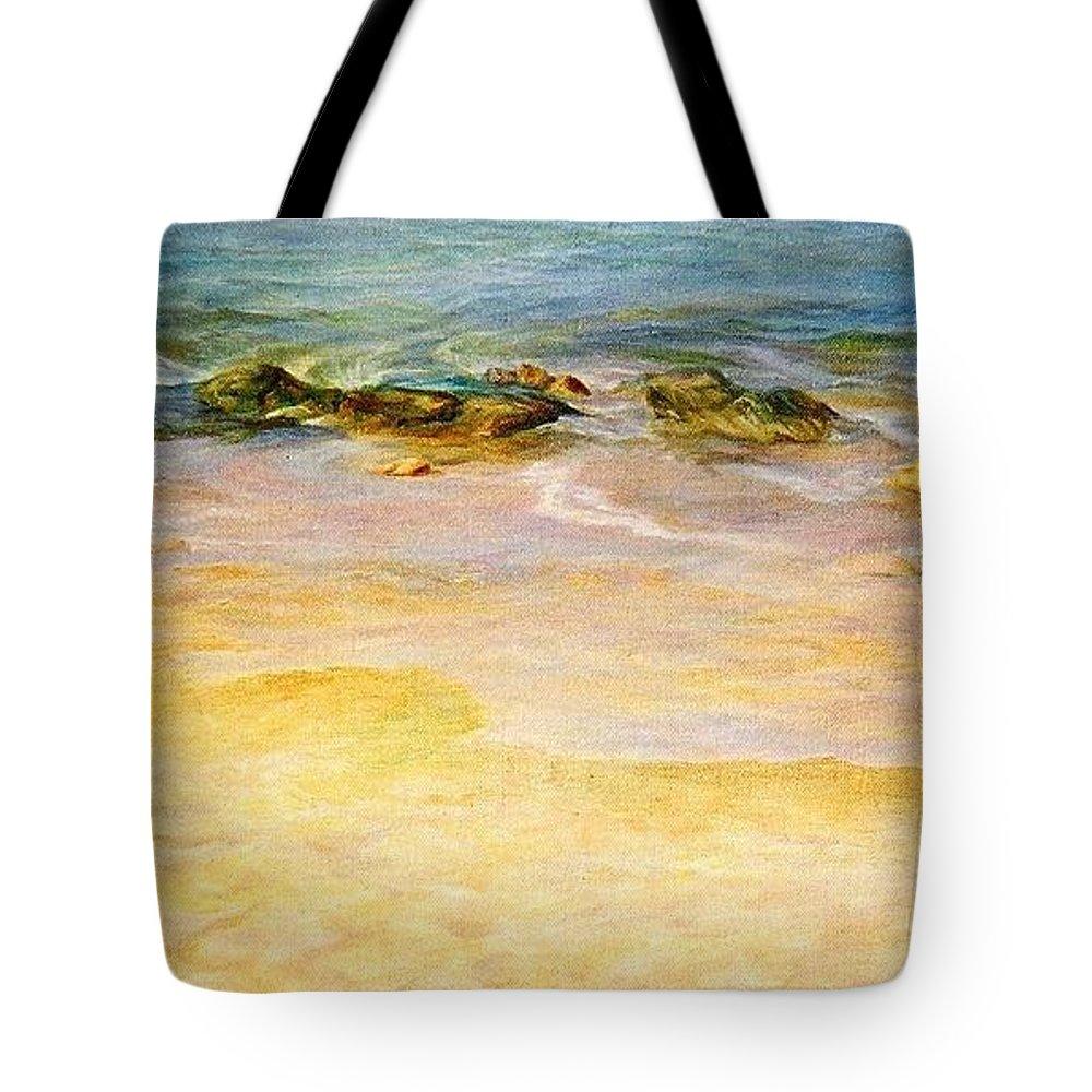 Sea Tote Bag featuring the painting Comfort. by Maya Bukhina