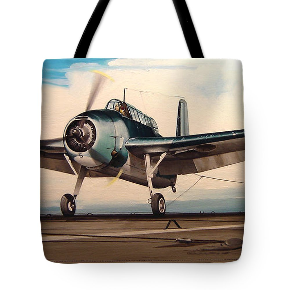 Painting Tote Bag featuring the painting Coming Aboard by Marc Stewart