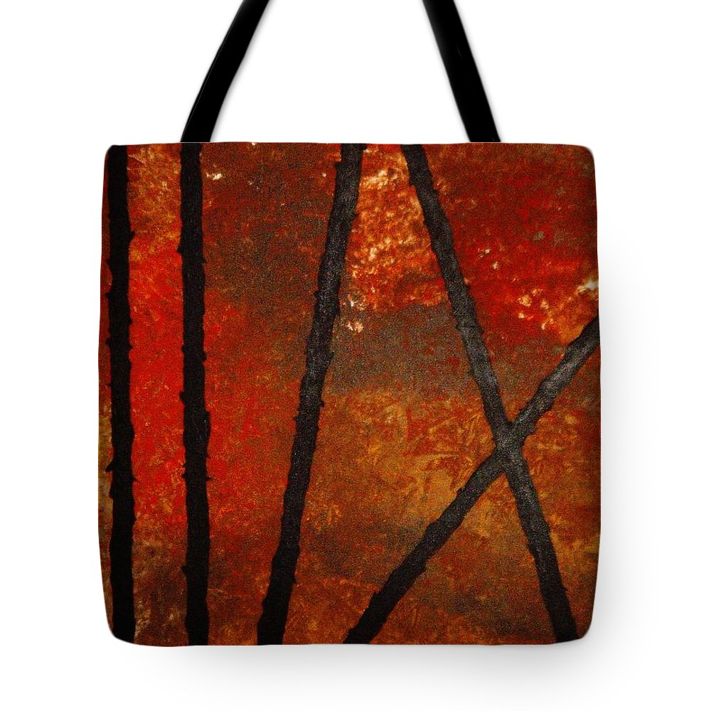 Original Abstract Acrylic Tote Bag featuring the painting Coming Apart by Todd Hoover