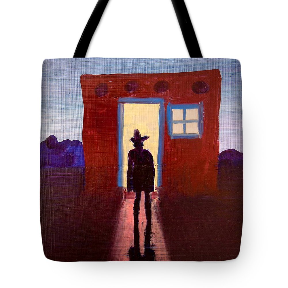South West Tote Bag featuring the painting Coming Home by Bonita Barlow