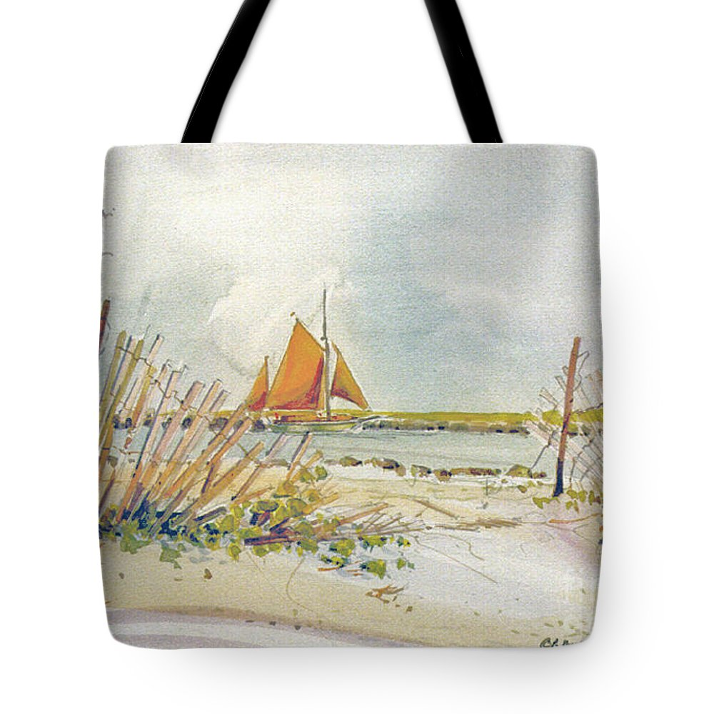 Sail Tote Bag featuring the painting Coming Home by P Anthony Visco