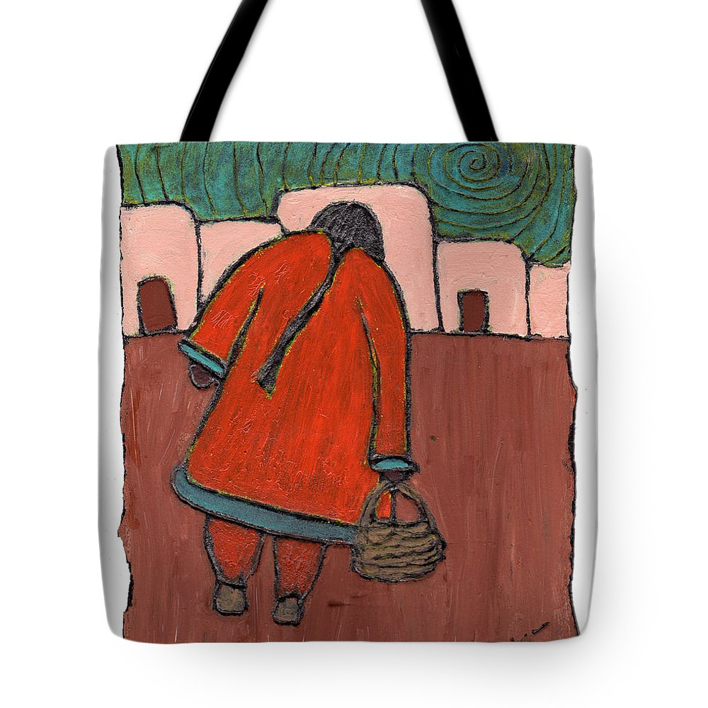 Southwest Tote Bag featuring the painting Coming Home by Wayne Potrafka