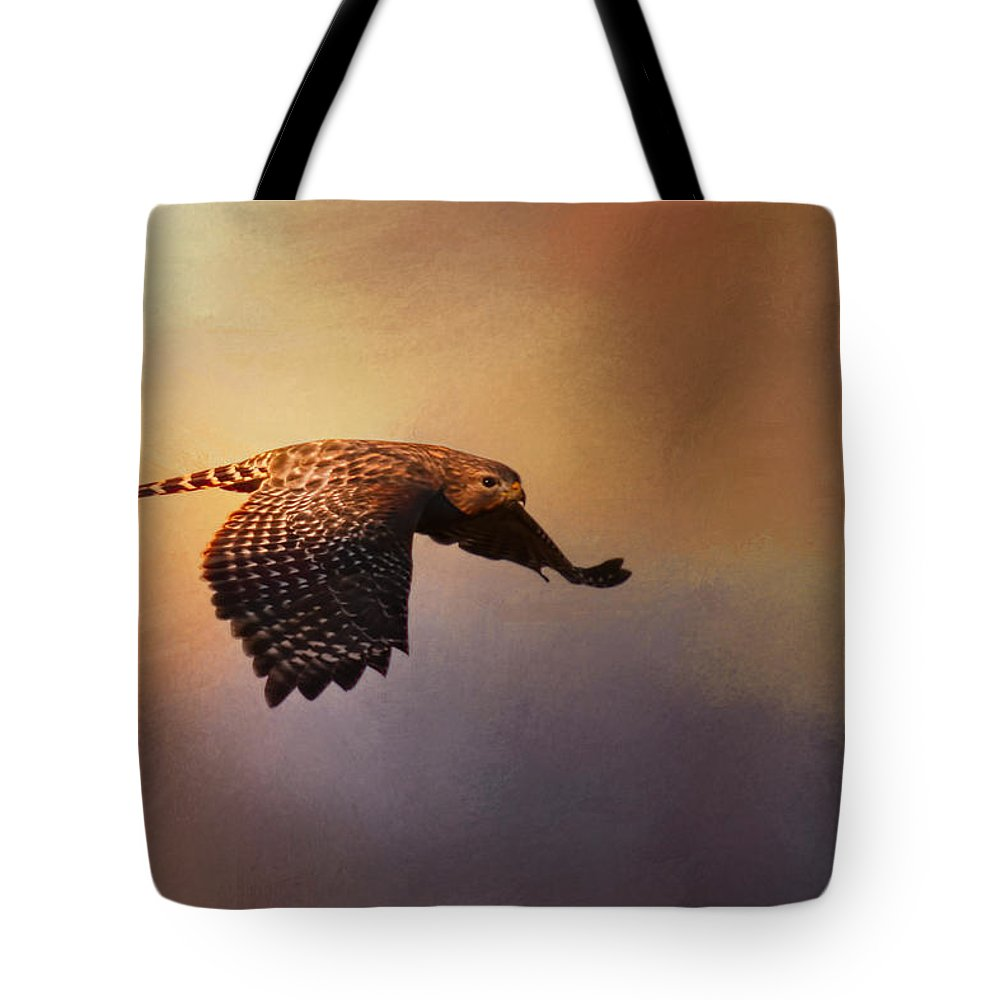 Jai Johnson Tote Bag featuring the photograph Coming In For The Evening by Jai Johnson