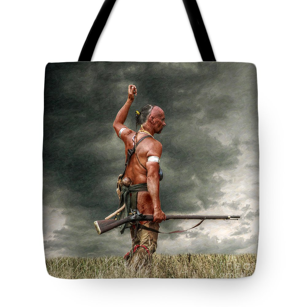 Warrior Tote Bag featuring the digital art Coming Storm by Randy Steele