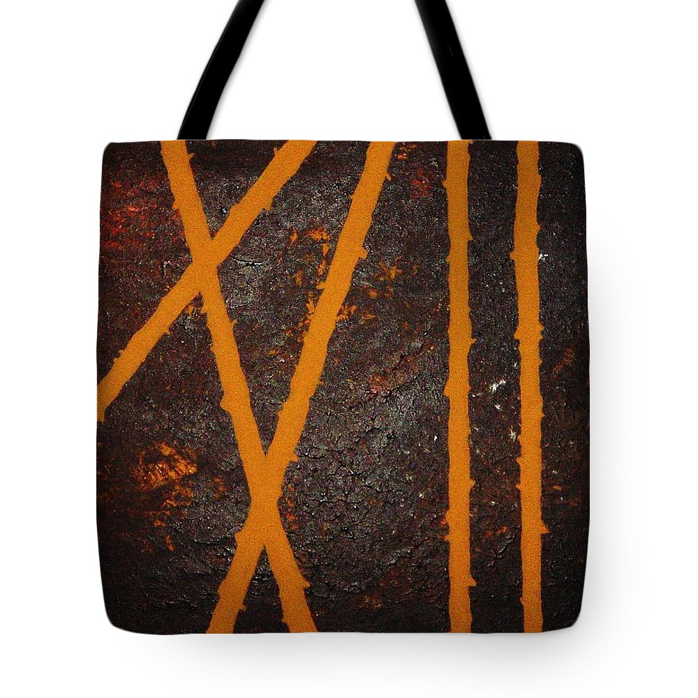 Original Tote Bag featuring the painting Coming Together by Todd Hoover