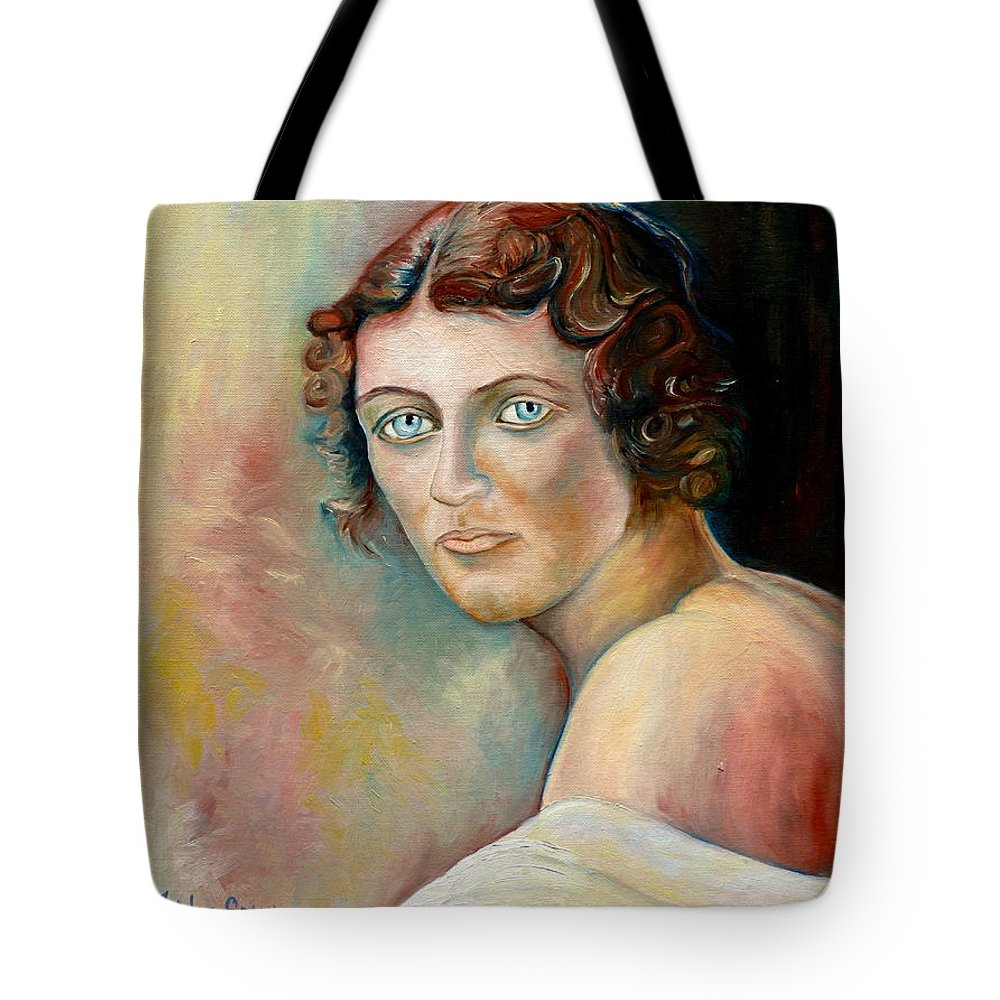 Portrait Tote Bag featuring the painting Commission Me Your Face by Carole Spandau