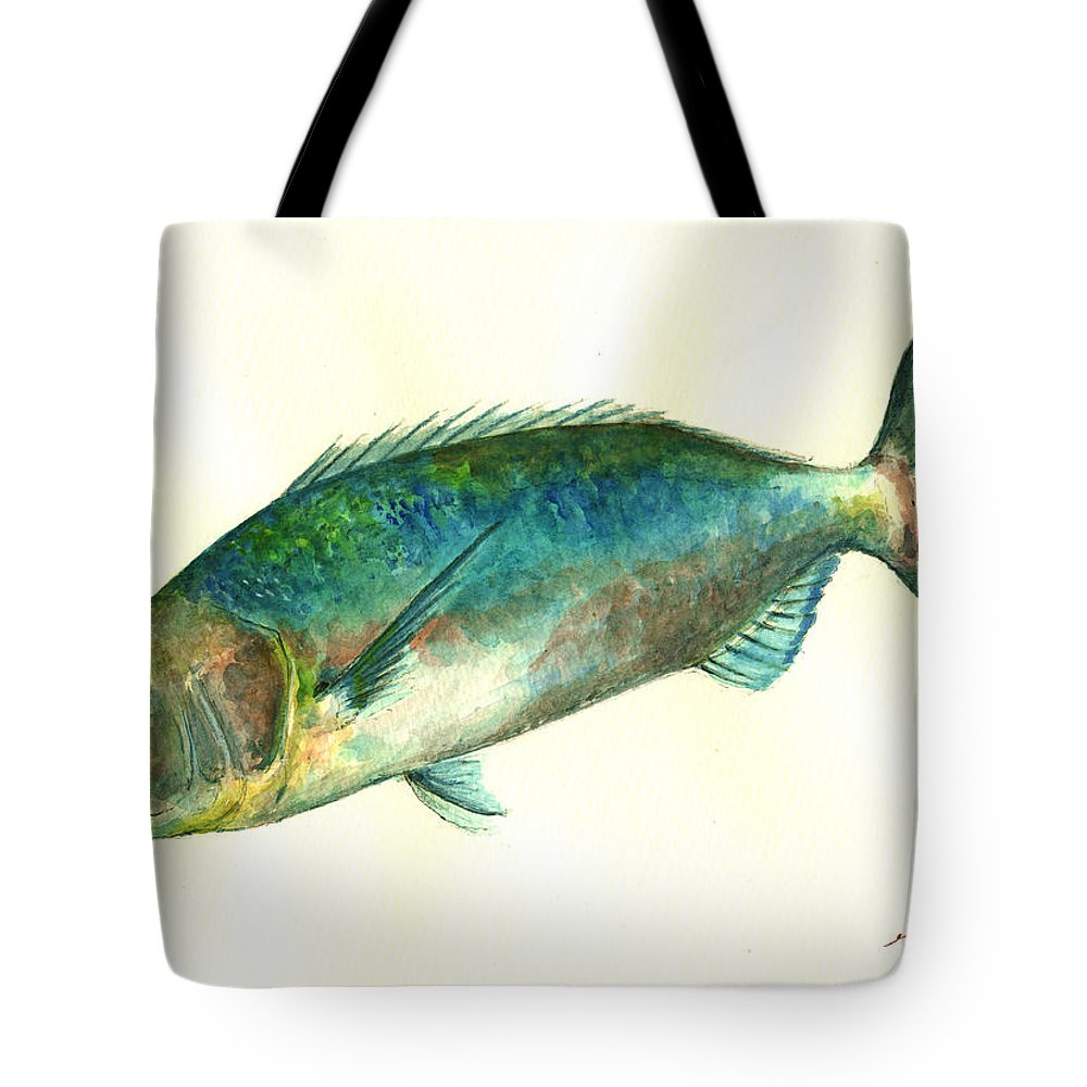 Designs Similar to Common Dentex Fish Painting
